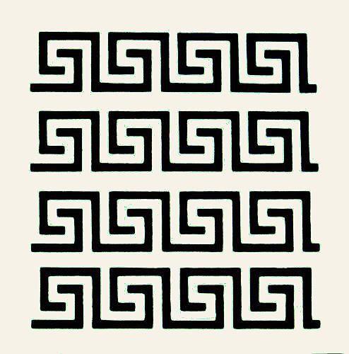 Greek Key Stencil Border Roman Stencils Flexible Craft Sbook Template New Ebay