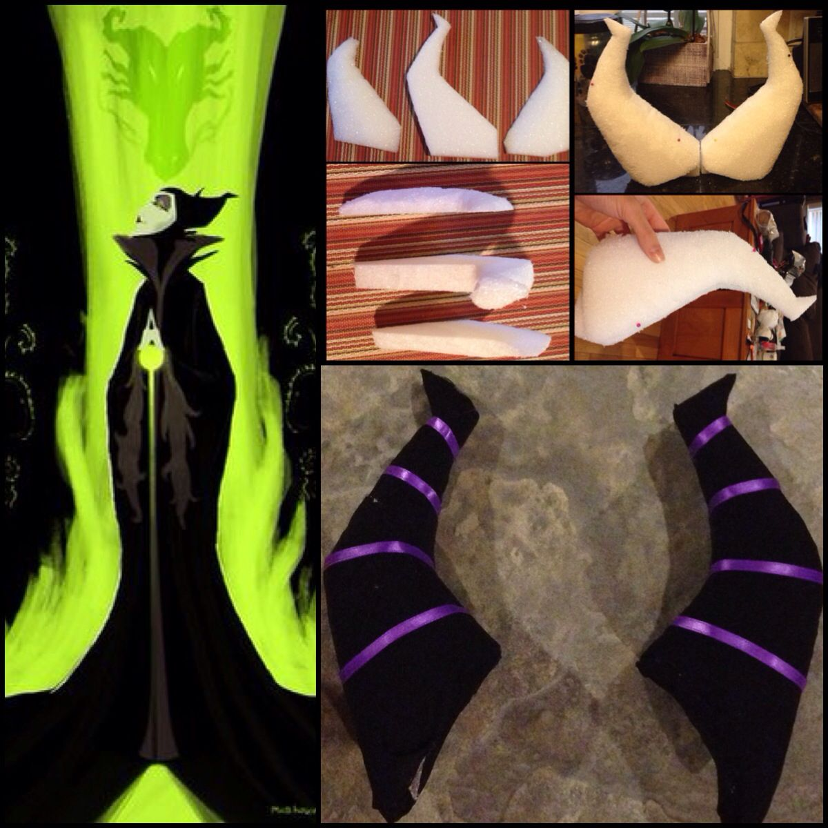 Diy Maleficent Horns For Under 10 9 Foam Board 0 50