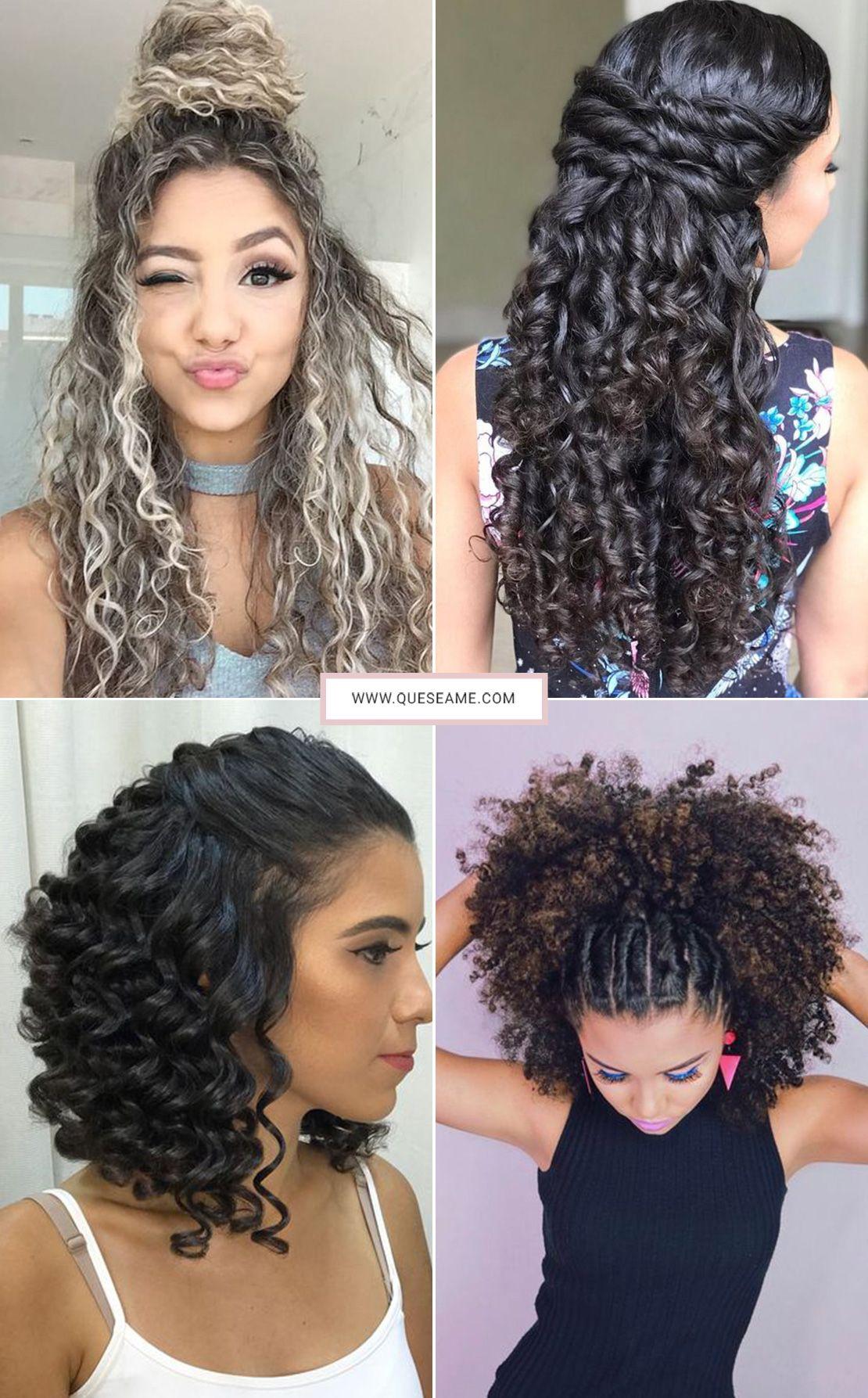 Penteados Para Cabelos Cacheados Hair Penteado Cabelo