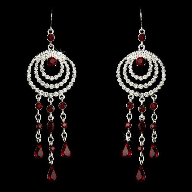 Red Austrian Crystal Chandelier Earrings   Chandelier earrings