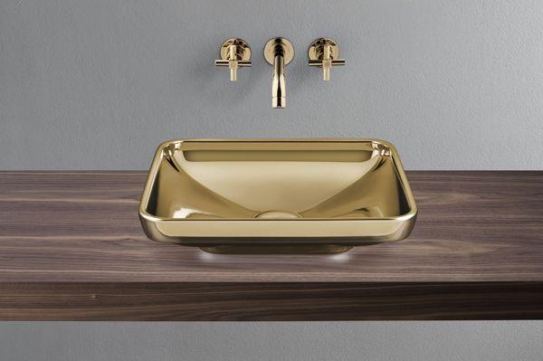 Despoke VitrA  Water Jewels Rectangular 60 Cm Gold Bowl £783  (4442B472_0018)[ Amazing Design