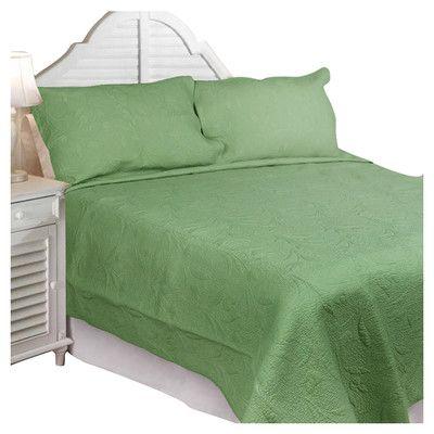 Textiles Plus Inc. Solid Tuilp Garden Quilt Set & Reviews ...