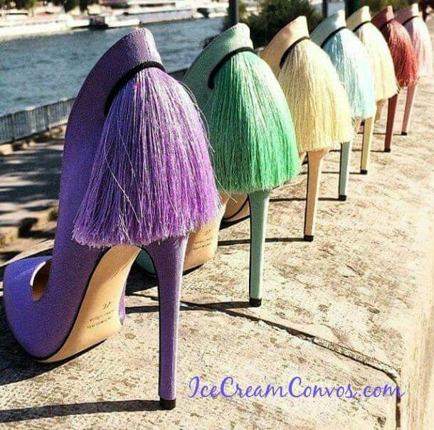 Island style high heels!