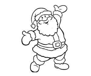 Vintage Santa Claus Coloring Pages Pictures To Pin On Pinterest