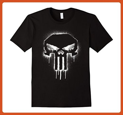 345811c4e Mens Marvel The Punisher Spray Painted Skull Drip Graphic T-Shirt Small  Black - Superheroes shirts (*Partner-Link)