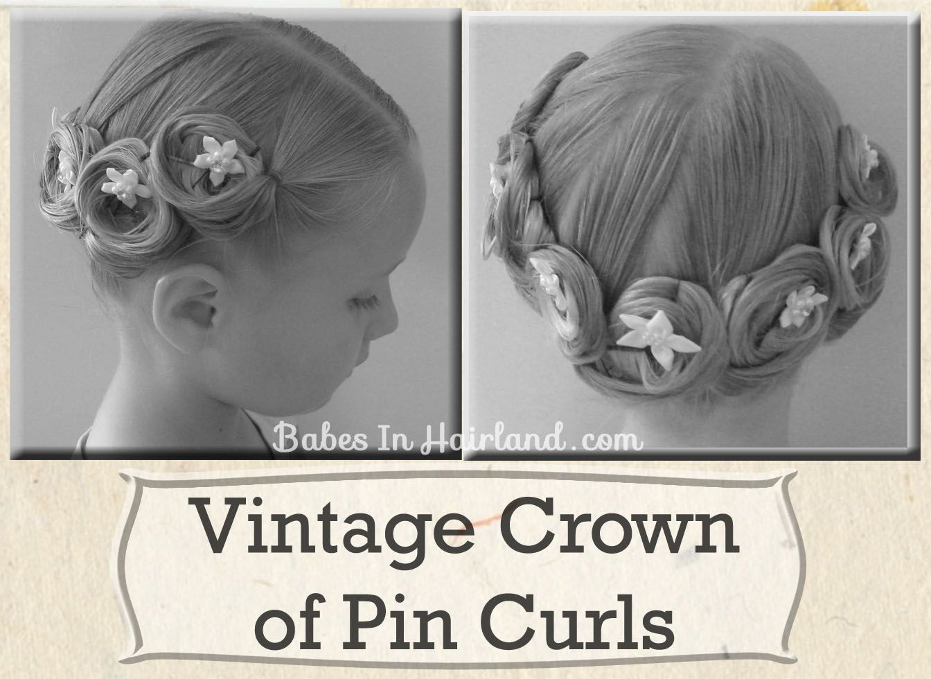 Vintage Crown of Pin Curls