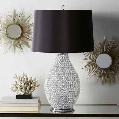 Black Crystal Bead Table Lamp Light It Up Table Lamp