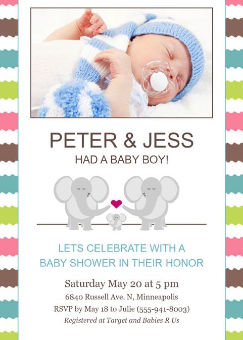 Focus in Pix baby announcement and shower invitation Download our - free invitation download