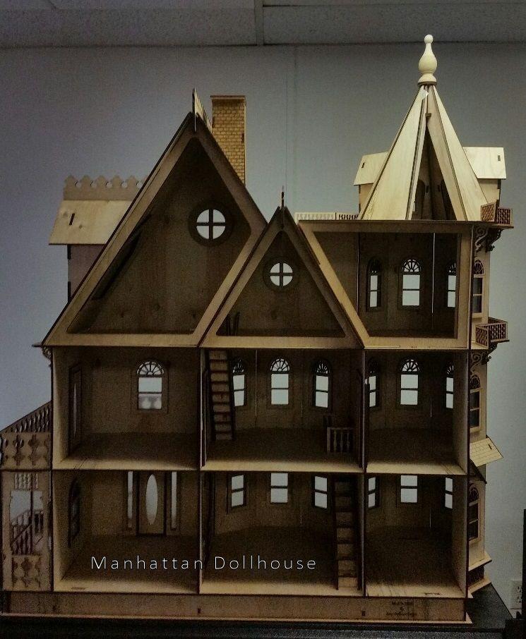Leon Gothic Victorian Mansion Dollhouse Kit