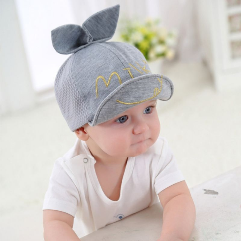 Cute Ears Baby Sun Hat Children Snapback Baseball Cap Summer Kids Boys Girls Hat