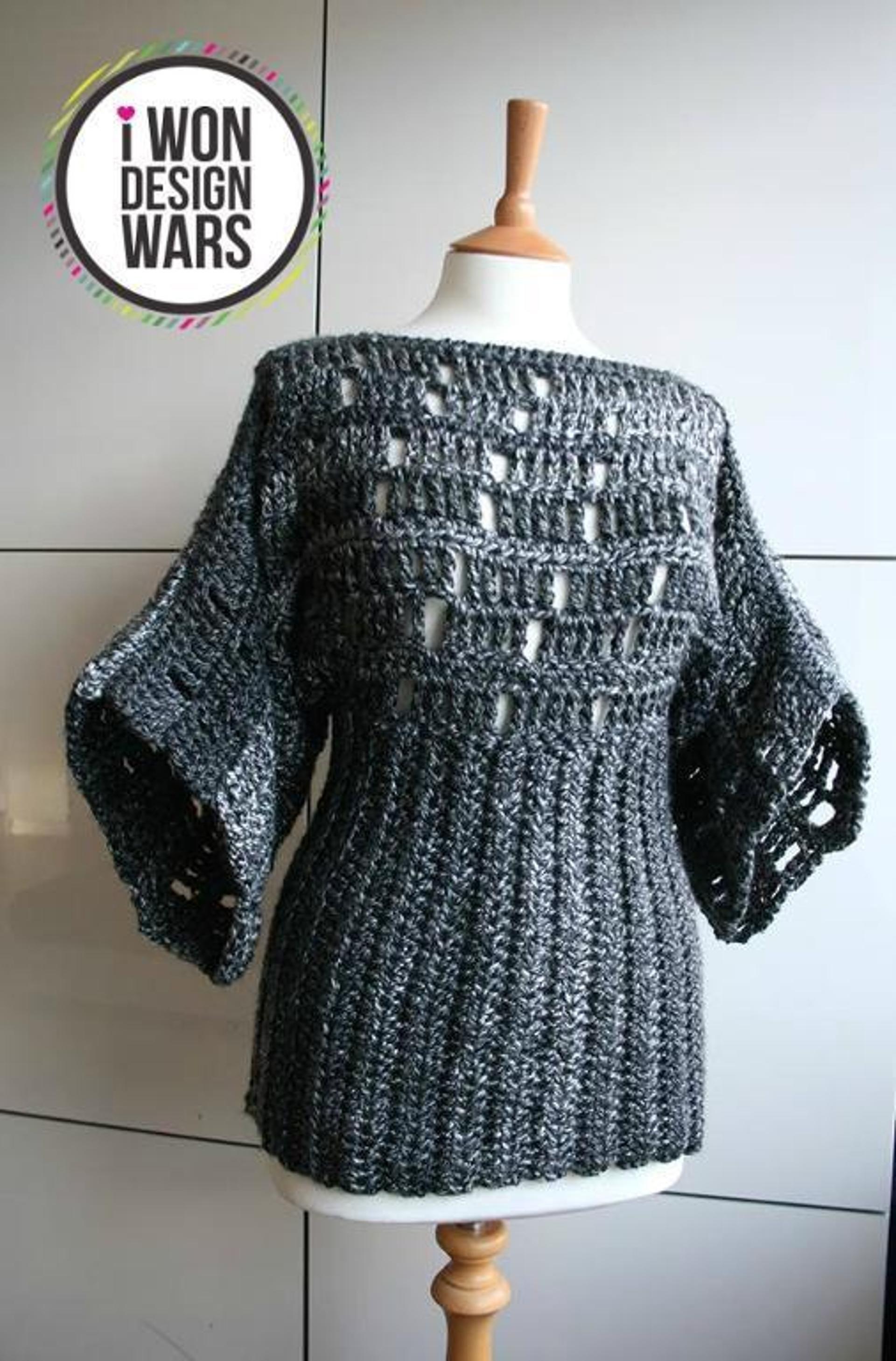 63b4289b3b421 Kimono poncho crochet pattern 199