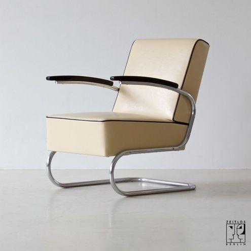 Bauhaus tubular steel armchair