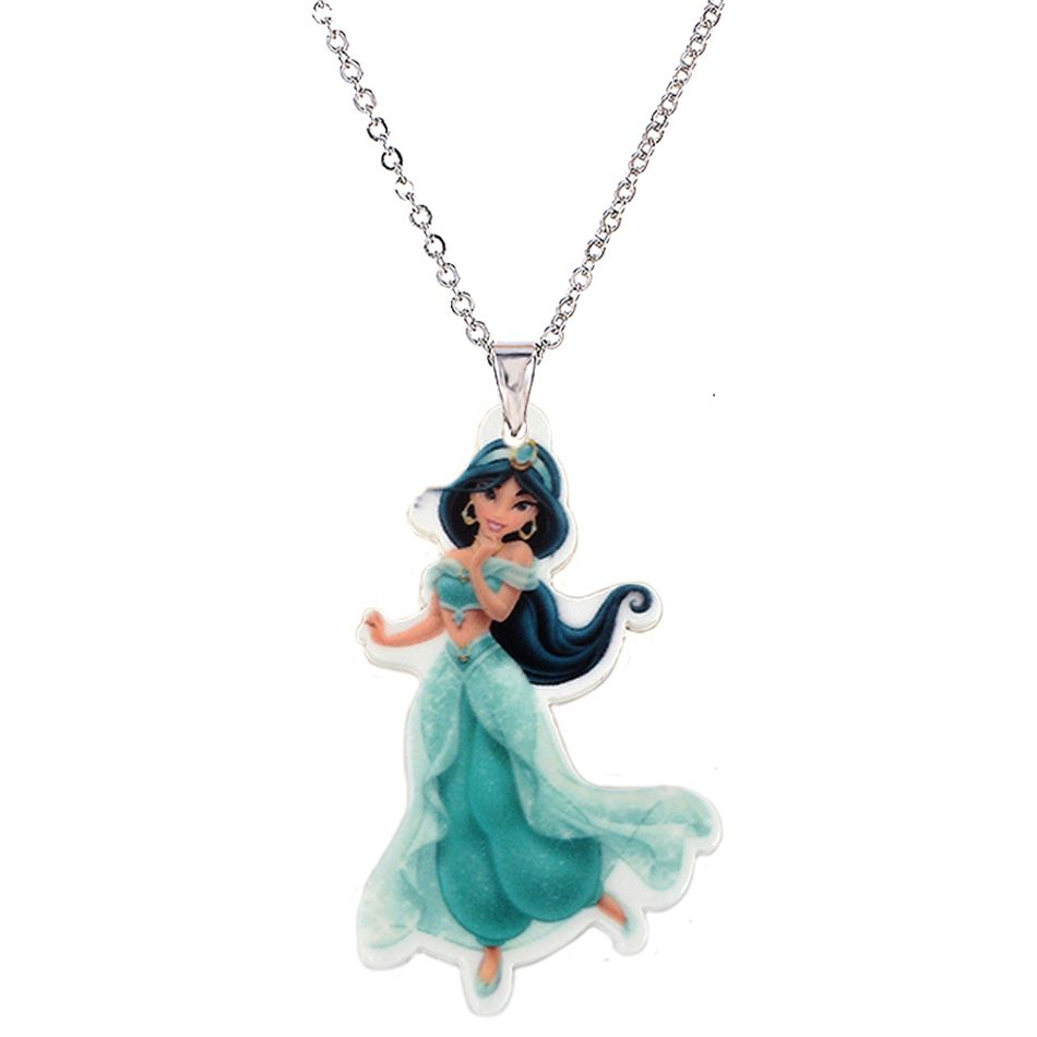 Cartoon princess big plastic charm pendant necklace for girls silver cartoon princess big plastic charm pendant necklace for girls silver chain flatback planar resin childrens necklaces mozeypictures Choice Image