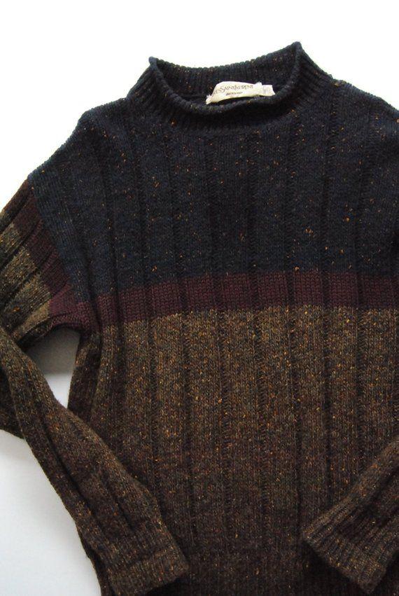 408534a8657dd3 Vintage Yves Saint Laurent Mens 100% Wool Sweater Sportswear YSL Sz ...