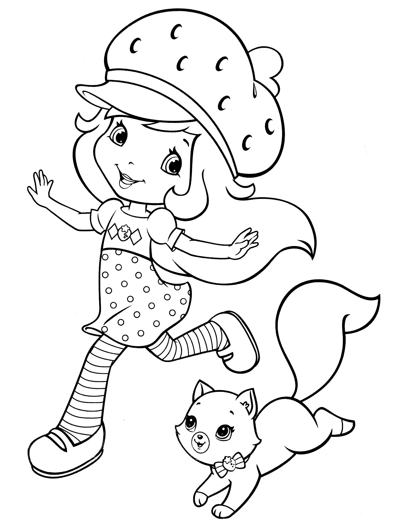 Printable coloring pages strawberry shortcake - Coloring Pages