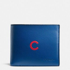 10d4b331f3 Coach Mlb Compact Id Wallet | men's wallets | Leather front pocket ...