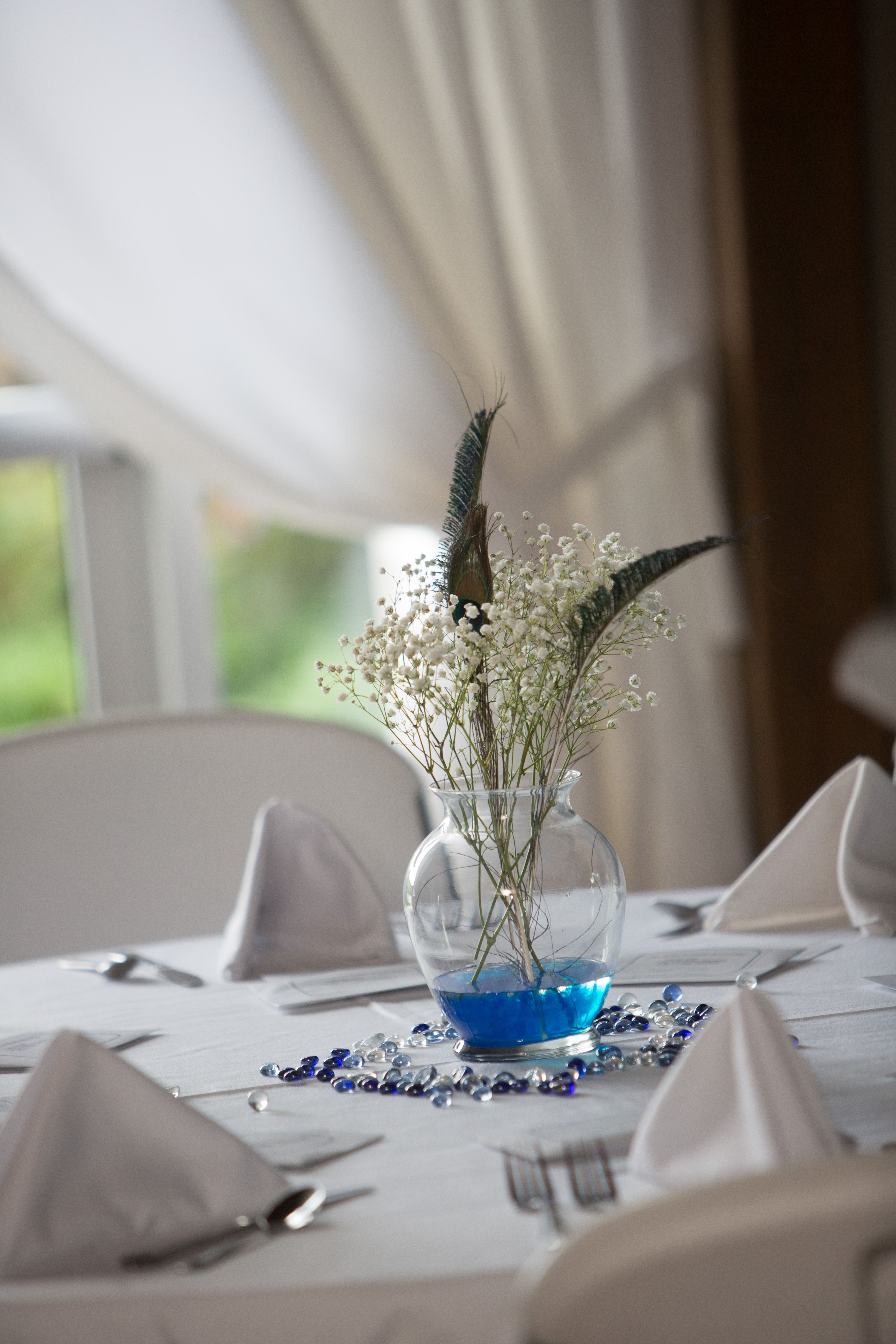 Very simple centerpieces vase water beads babys breath very simple centerpieces vase water beads babys breath peacock feather colored reviewsmspy