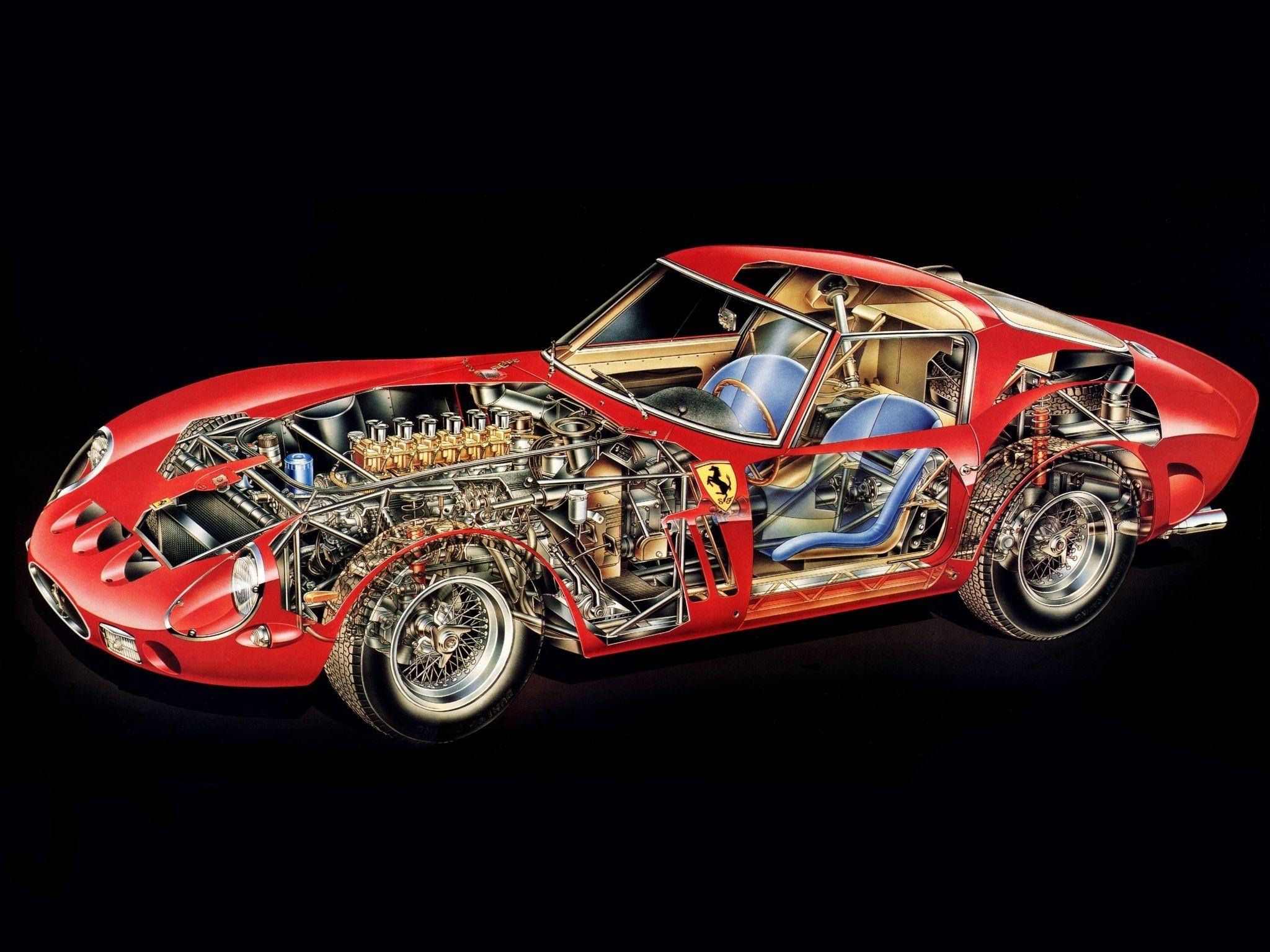 1962 Ferrari 250 Gto Series I Supercar Supercars Classic Interior