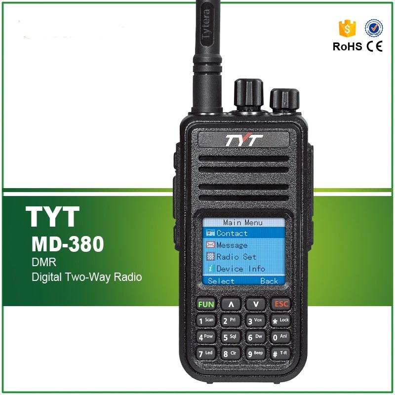 TYT MD380 DMR Digital Walkie Talkie MD-380 TDMA UHF Two Way Radio 5W