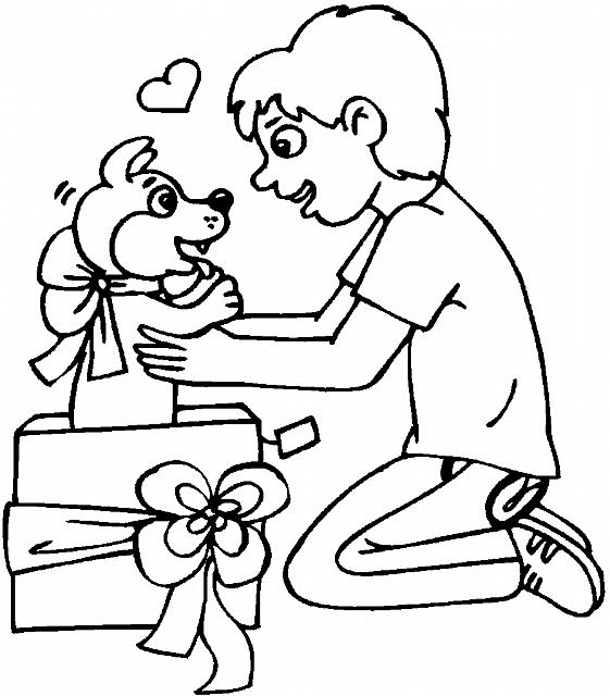 Ragazzo Con Cane Disegno Di Natale Da Colorare Pagine Da Colorare Di Natale Disegni Colori Di Natale