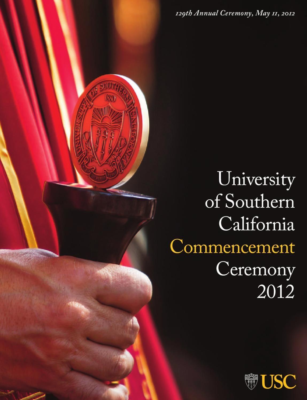 Usc Commencement Program 2012 University Of Southern California
