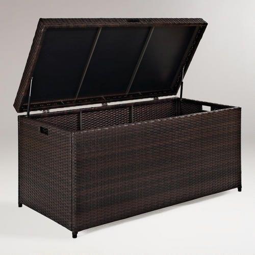 Pinamar Storage Chest Wicker Storage Bins Patio Storage Box Patio Storage