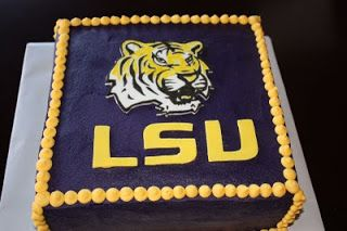 Pleasing The Daly Dish Lsu Cakes With Images Lsu Grooms Cake Cake Personalised Birthday Cards Veneteletsinfo