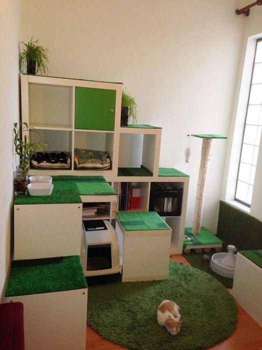 Diy Cat Apartment Storage And Play Area Ikea Hackers Cat Apartment Cat Furniture Diy Ikea Cat