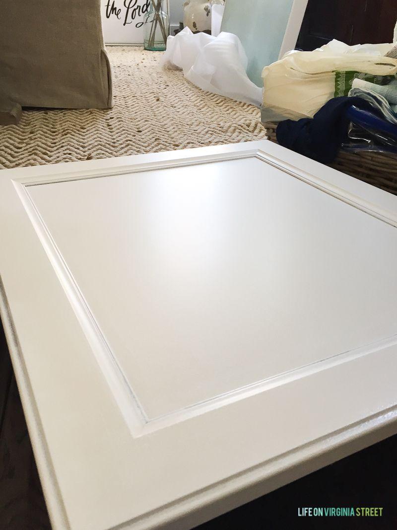The Primed Door On The Floor Drying In 2020 Thermofoil Cabinets Thermofoil Kitchen Cabinets Cabinet Doors
