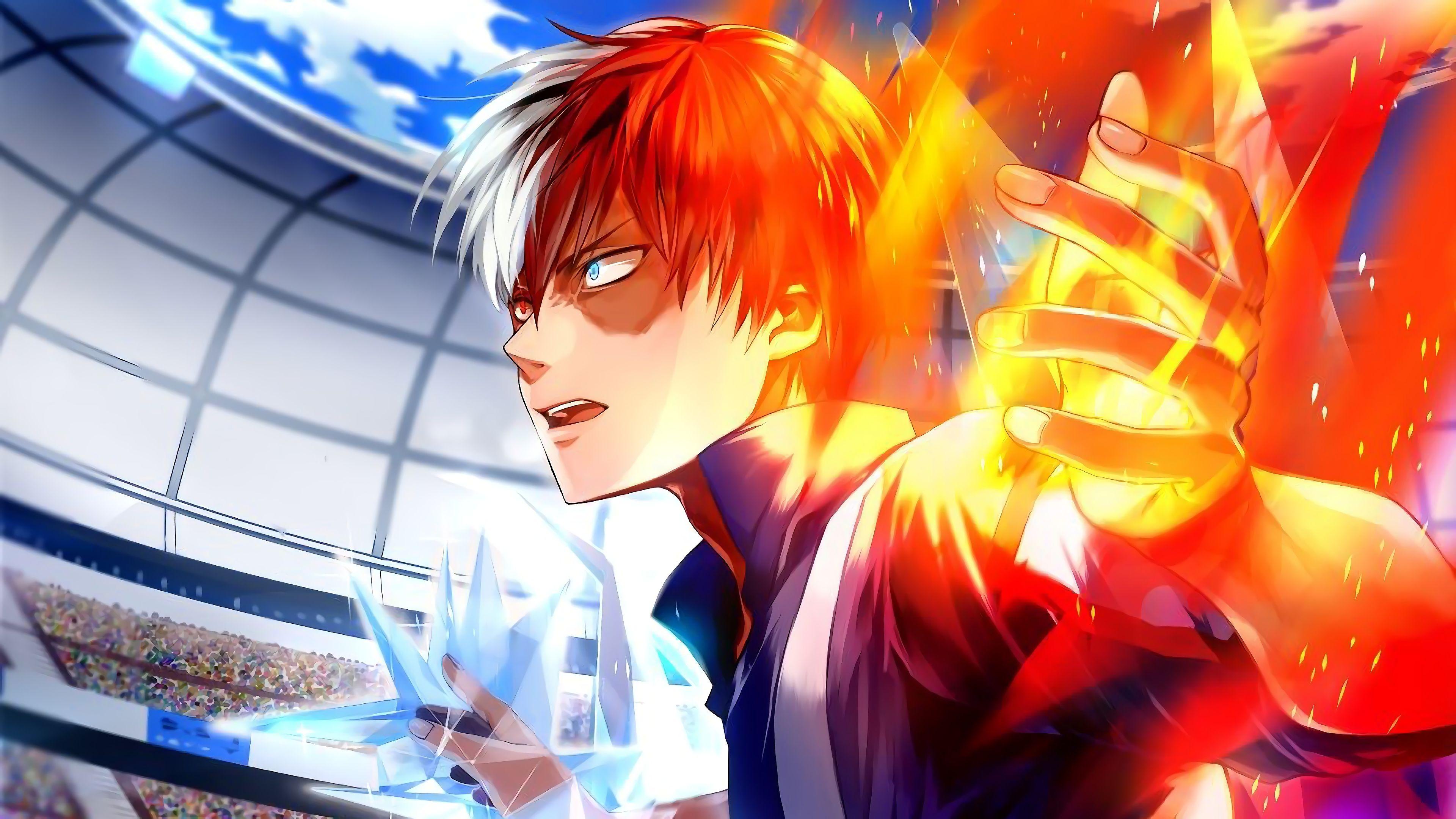 Shoto Todoroki Gambar Anime Gambar Manga Menggambar Wajah