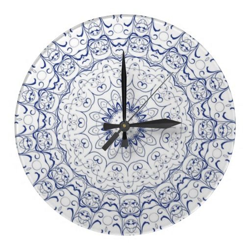 Blue Lace Wall Clock