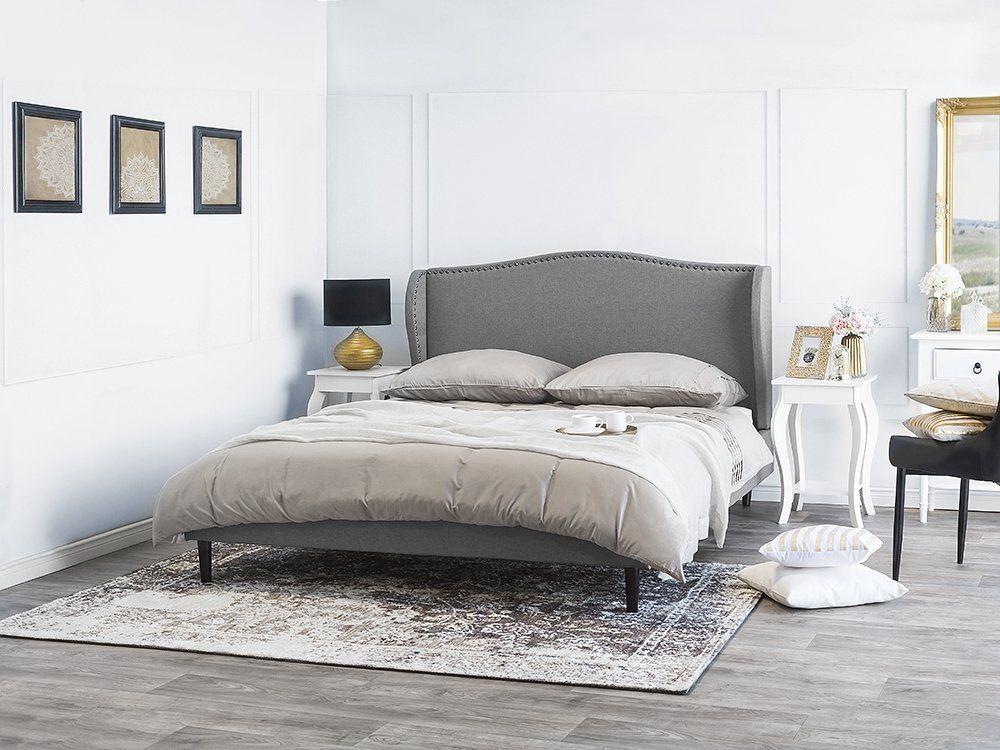 łóżko Szare Tapicerowane 180 X 200 Cm Colmar Inspiracje In