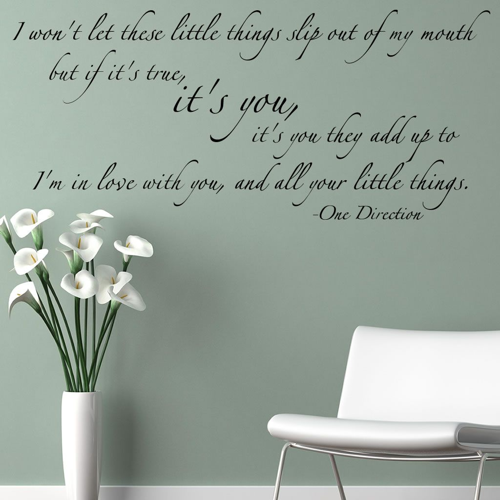 One Direction Little Things Lyrics Wall Sticker Wall Mural Wall - One direction wall decals