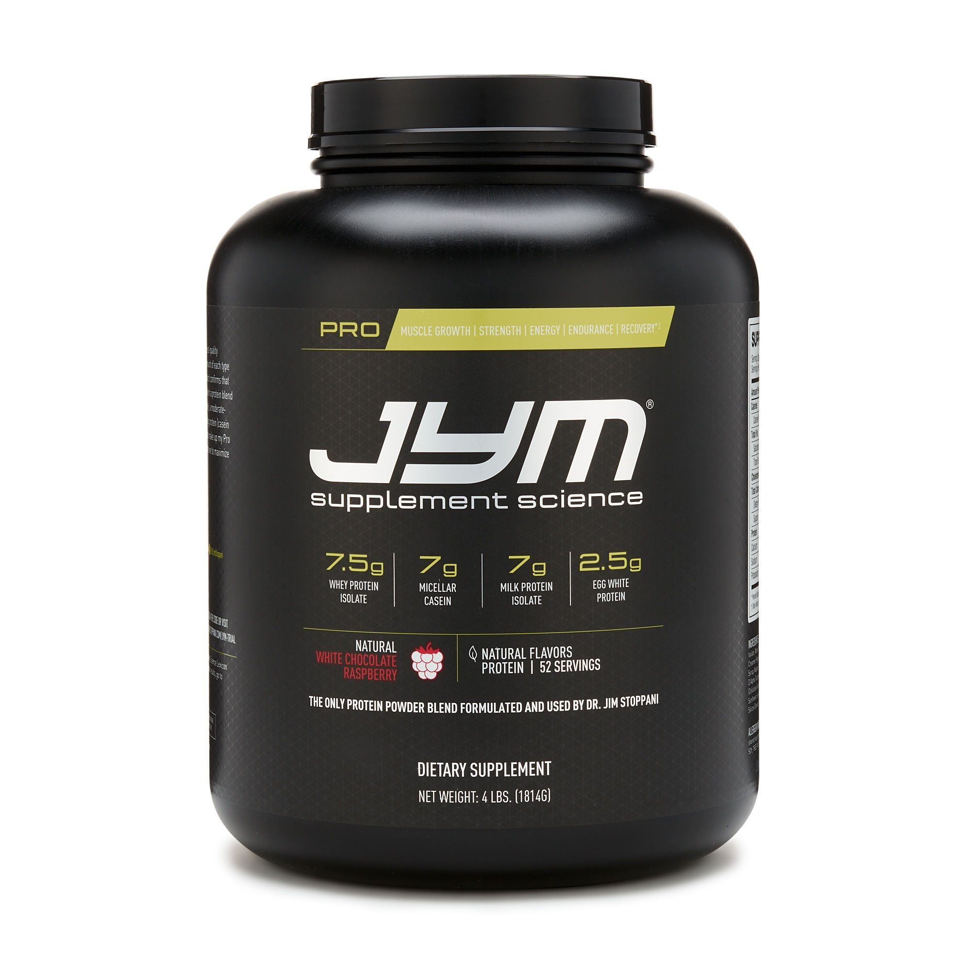 Pro Jym Protein Natural White Chocolate Raspberry Best