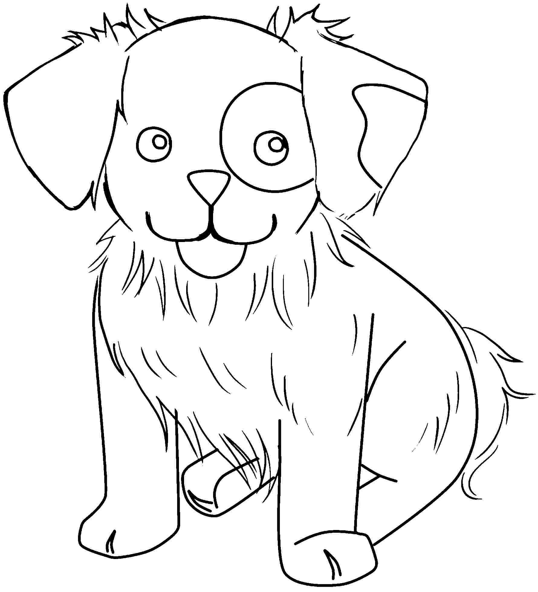 Printable Dog Coloring Pages Cute Dogs Coloring