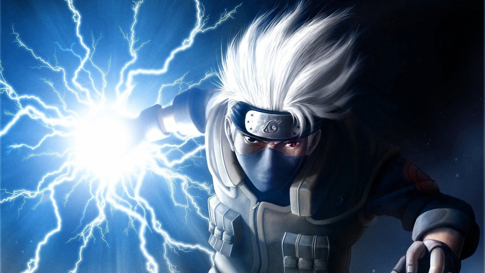 Kakashi Chidori In 2020 Cool Anime Backgrounds Naruto Kakashi Kakashi Chidori
