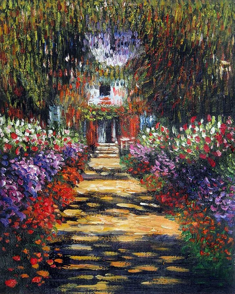 Garden Path At Giverny Claude Monet Monet Top 10 Art
