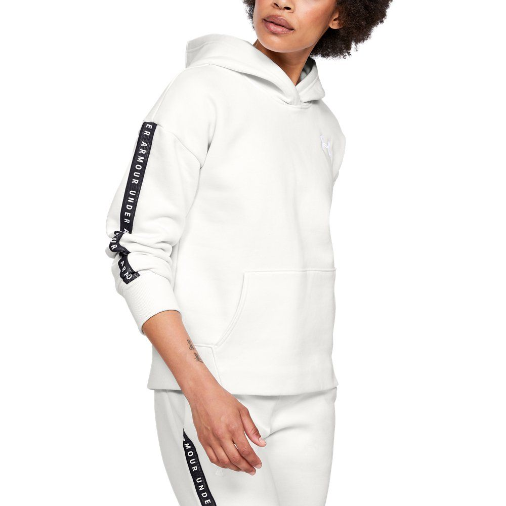 Under Armour Women/'s White UA French Terry Warm Up Full Zip Jacket