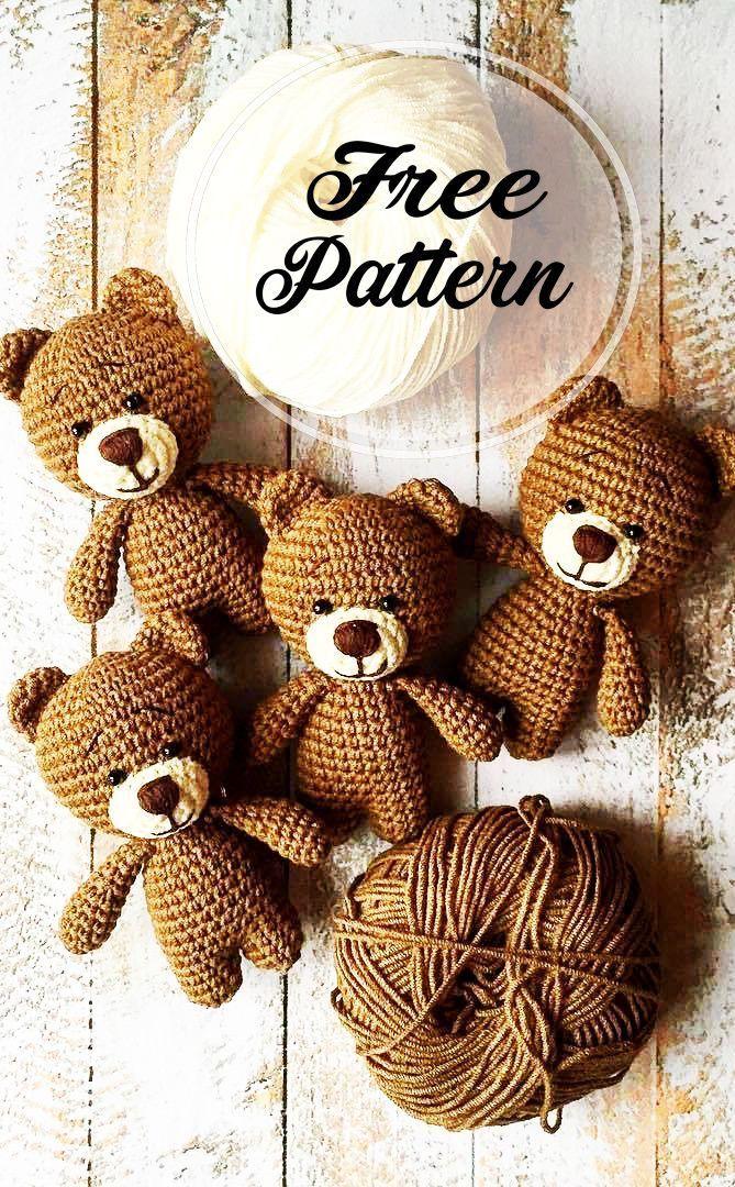 Fantastique Crochet gratuit Teddy Amigurumi Bear Pattern – #kidsclothes …   – Gelinlik