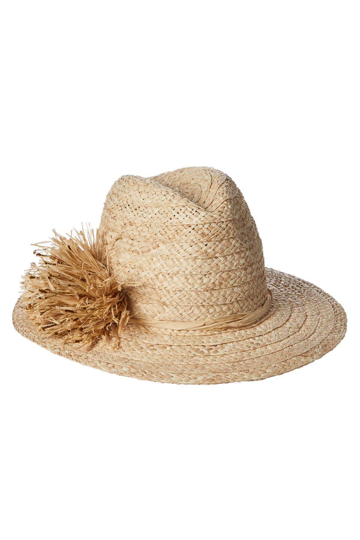 Hat Attack S Sun Hats Straw Pom Pom Rancher Hat Hats Womens Fedora Sun Hats
