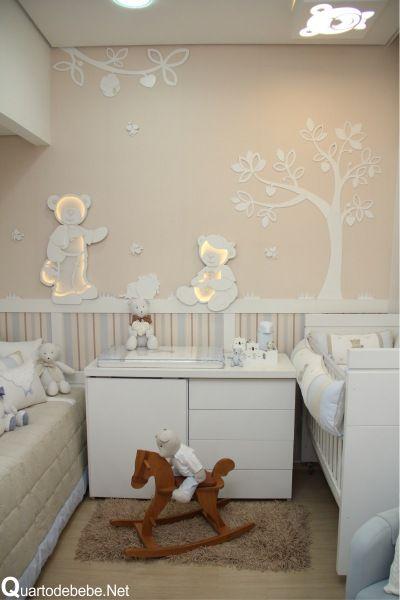 Quarto de bebe tema ursos com poltrona azul kinderzimmer - Baby jungenzimmer ...