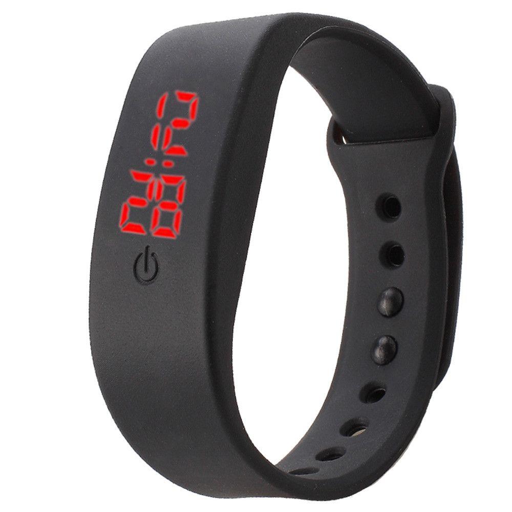 $1.45 (Buy here: http://appdeal.ru/5ujq ) Best seller Free Shipping Womens Mens Rubber LED Watch Date Sports Bracelet Digital Wrist Watch erkek kol saati Jun15 for just $1.45