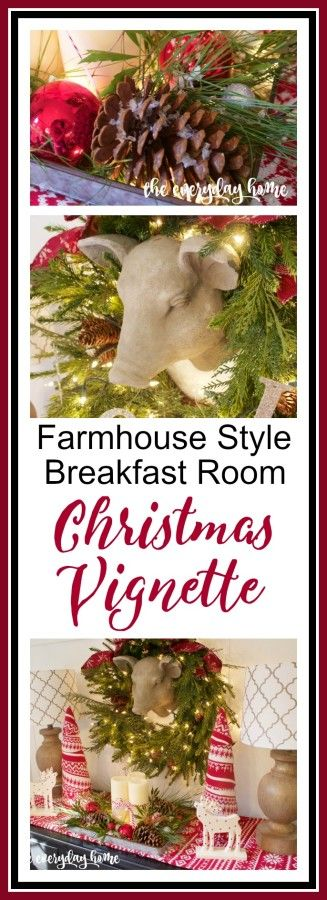 Farmhouse Style Christmas Vignette   The Everyday Home   www.everydayhomeblog.com