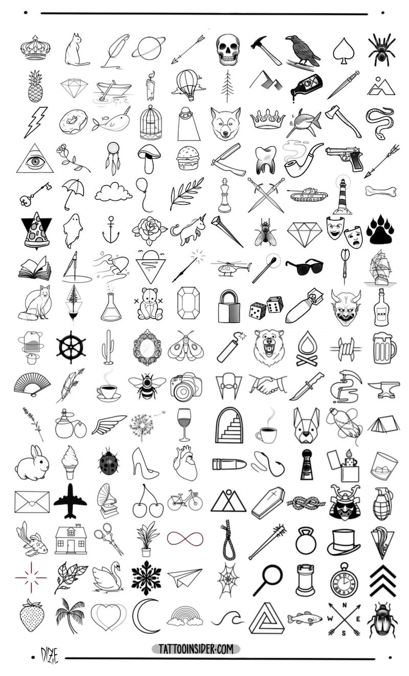 Simple Tattoo Outlines : simple, tattoo, outlines, Original, Small, Tattoo, Designs, Insider, Designs,, Tattoos
