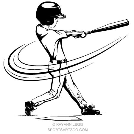 Little League Baseball Batter Sportsartzoo Little League Baseball Baseball Batter Little League