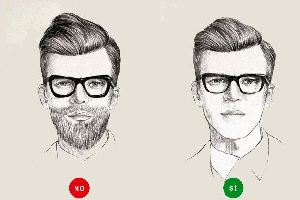 Anteojos + barba = la apuesta más arriesgada
