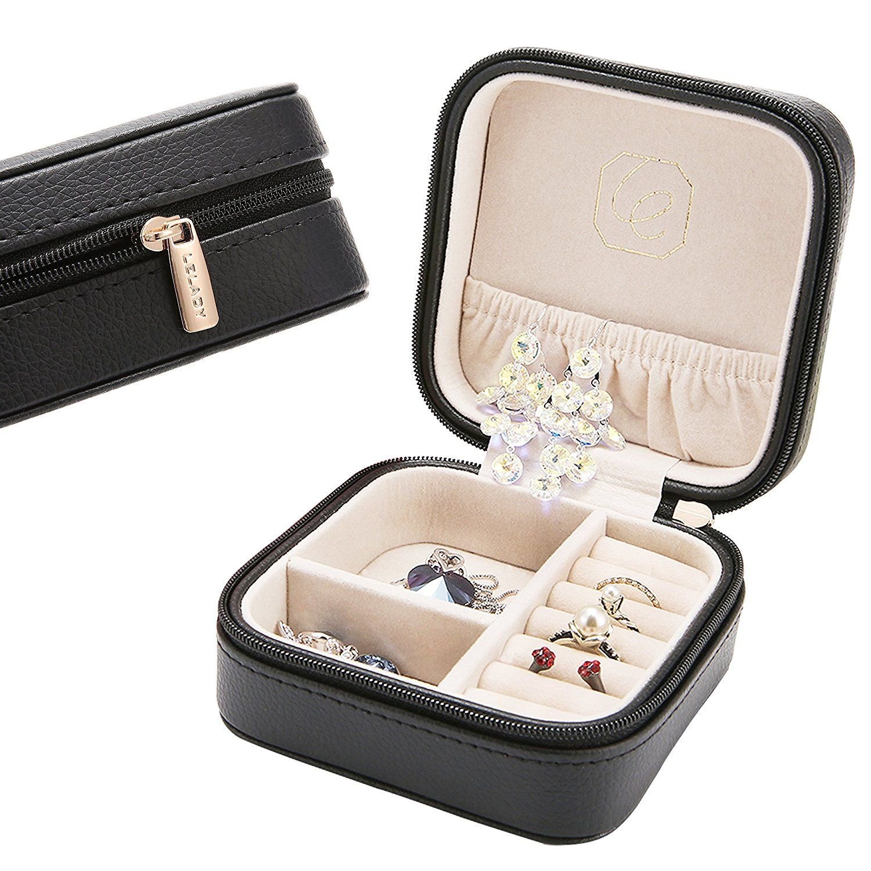 Small Travel Jewelry Organizer Jewerly Case Jewelry Box Jewerly Storage Case Holder For Women Girls We Travel Jewelry Box Leather Jewelry Box Petite Jewelry