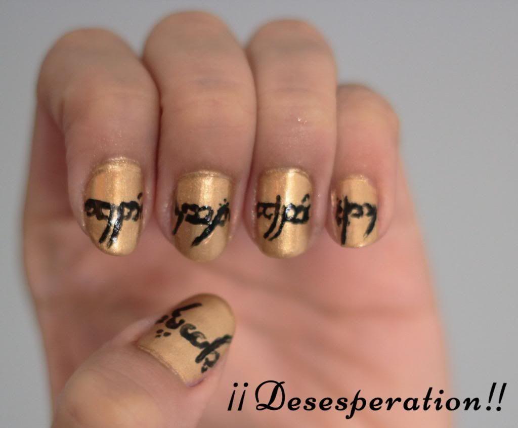 The lord of the ring nails - El señor de los anillos diseño de uñas ...