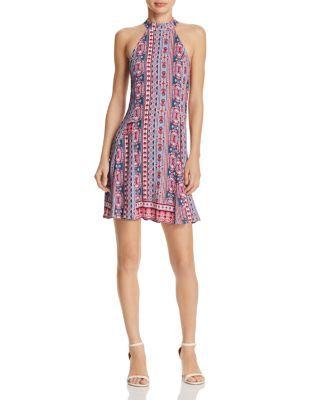 949714ecf1f AQUA India Print Halter Dress -100% Exclusive
