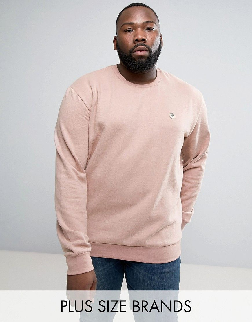 PLUS Crew Neck Sweat - Khaki Le Breve Cheap 2018 Unisex Discount Price Cheap Sale Genuine Cheap Sale Professional Discount Release Dates wI42w